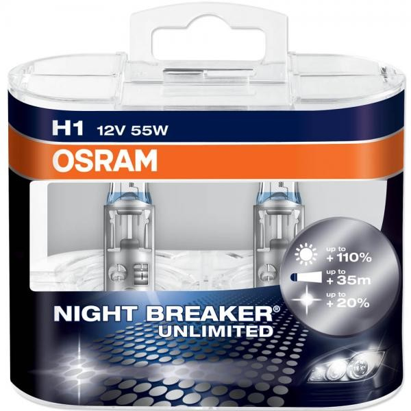 Žiarovka H7 NIGHT BREAKER UNLIMITED BOX 12V 55W Osram