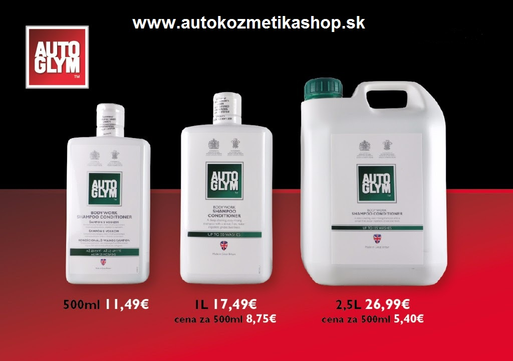 AUTOGLYM-Bodywork Shampoo Conditioner 2500ml-autošampon s voskom
