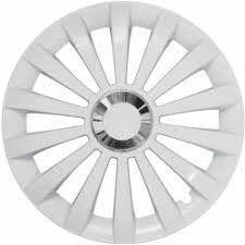 "Puklice MERIDIAN RING WHITE 15"" -4ks"
