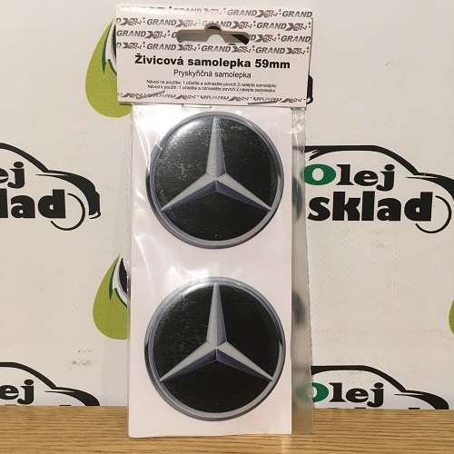 Nálepka  Mercedes 59 mm 4 ks